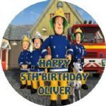 Personalised Edible Fireman Sam Cake Topper